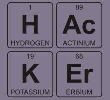 H Ac K Er - Hacker - Periodic Table - Chemistry Kids Tee