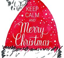 Keep calm and Merry Christmas poster  by natakuprova