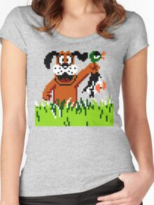 """Retro Retriever"" Duck Hunt Women's Fitted Scoop T-Shirt"