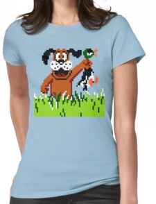 """Retro Retriever"" Duck Hunt Womens Fitted T-Shirt"