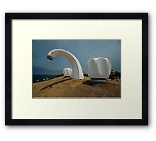 Big Tap @ Sculptures By The Sea, Australia 2011 Framed Print