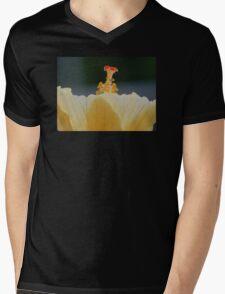 Macro Stamen Hibiscus Mens V-Neck T-Shirt