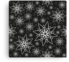 Pattern with abstract flowers Canvas Print