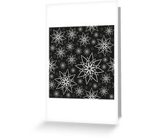 Pattern with abstract flowers Greeting Card