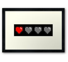 8 bit hearts Framed Print