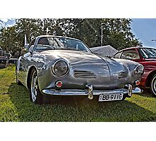 Silver Karmann Ghia at 2014 Volksfest Photographic Print
