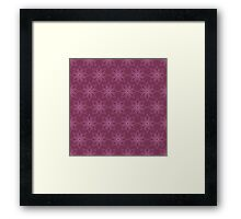 Pattern with abstract flowers Framed Print