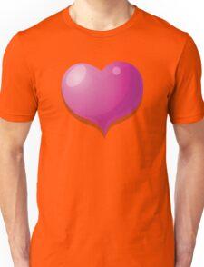 3D Heart hearts in pink Unisex T-Shirt
