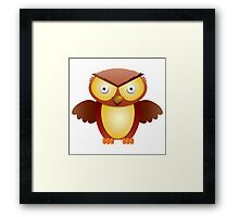 the owl with the angry stare Framed Print