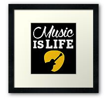 Music is life! Framed Print