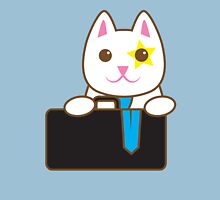 Business CAT with a suitcase Womens Fitted T-Shirt