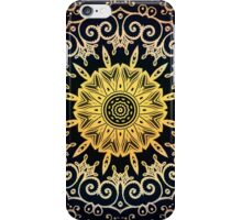 Orange on the dark pattern iPhone Case/Skin