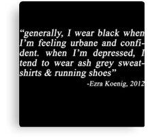 ezra koenig tweet- wearing black Canvas Print