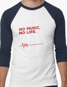 No music. no life. know music. know life. Men's Baseball ¾ T-Shirt