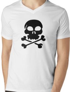 SKULL AND CROSSBONES by Zombie Ghetto Mens V-Neck T-Shirt
