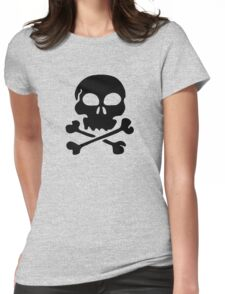 SKULL AND CROSSBONES by Zombie Ghetto Womens Fitted T-Shirt