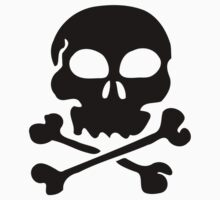 SKULL AND CROSSBONES by Zombie Ghetto Baby Tee