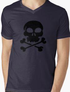 SKULL AND CROSSBONES by Zombie Ghetto Mens V-Neck T-Shirt