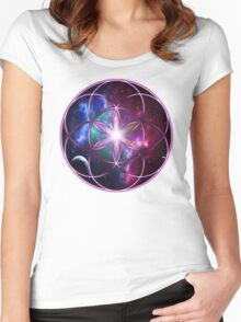 Sacred Geometry: Seed of Life - Universal Energy II Women's Fitted Scoop T-Shirt