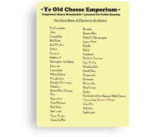 Monty Python - Cheese Shop Canvas Print