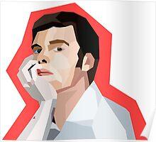 Dexter Polygon Art Poster