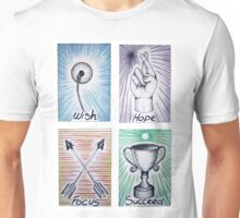 Inspirational Watercolour and Ink Art Cards  Unisex T-Shirt