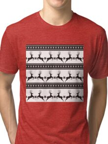 Pattern with deer Tri-blend T-Shirt