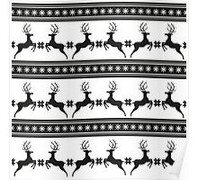 Pattern with deer Poster