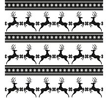 Pattern with deer Photographic Print
