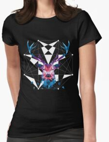 Geometric Stag Womens Fitted T-Shirt