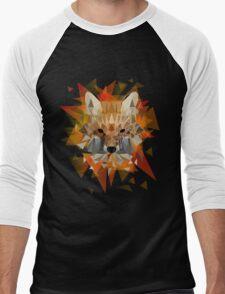 Geometric Fox Men's Baseball ¾ T-Shirt