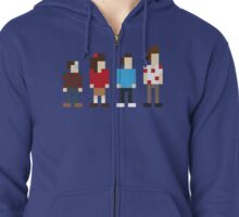 Seinfeld sitcom characters in Pixelstyle Zipped Hoodie