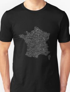 Typographic Map of France T-Shirt