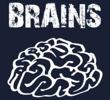 BRAINS by Zombie Ghetto Baby Tee