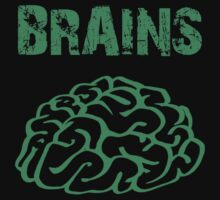 BRAINS by Zombie Ghetto Kids Tee