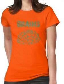 BRAINS by Zombie Ghetto Womens Fitted T-Shirt