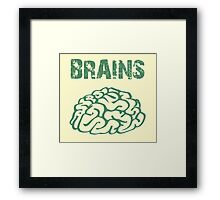 BRAINS by Zombie Ghetto Framed Print
