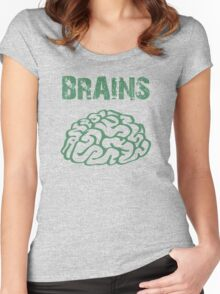 BRAINS by Zombie Ghetto Women's Fitted Scoop T-Shirt