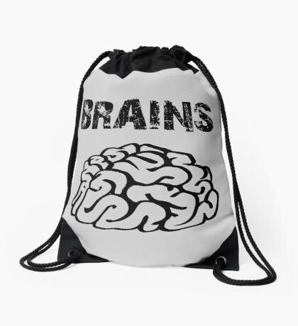 BRAINS by Zombie Ghetto Drawstring Bag