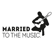 Married to the music! Photographic Print