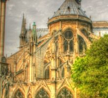 Notre Dame ..Garden Fountain view .. HDR Sticker