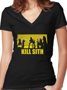 Kill Sith Women's Fitted V-Neck T-Shirt