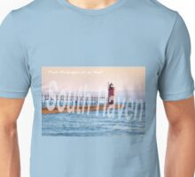 Late Afternoon Sun Over the South Haven Lighthouse Unisex T-Shirt