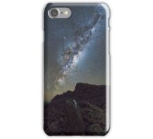 Galactic core rising over Misery Bluff iPhone Case/Skin