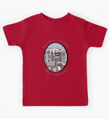 NYC-Name this lower Manhattan intersection? Kids Tee