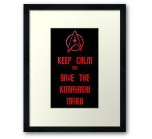 Star Trek Kobayashi Maru Framed Print