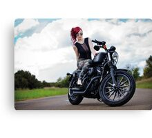 Army Girl Canvas Print