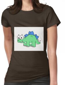 Cute illustration of a Stegosaurus. Womens Fitted T-Shirt