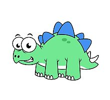 Cute illustration of a Stegosaurus. Photographic Print