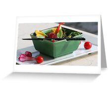 salad Greeting Card